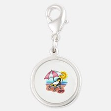 PENGUIN ON THE BEACH Charms