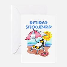 RETIRED SNOWBIRD Greeting Cards