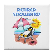 RETIRED SNOWBIRD Tile Coaster