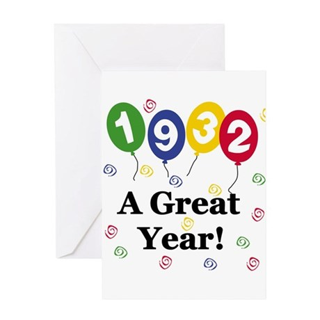 1932 A Great Year Greeting Card