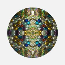 Beautiful Glass Beaded Jewels Round Ornament