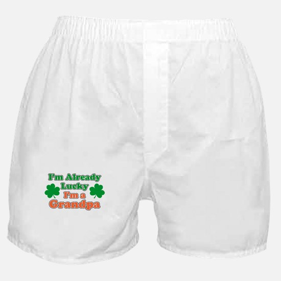 Already Lucky I'm Grandpa Boxer Shorts