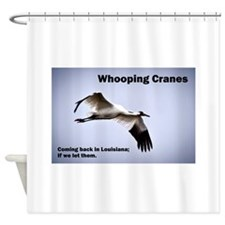 Cute Whooping cranes Shower Curtain