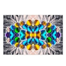Glowing Glass Beaded Desi Postcards (Package of 8)