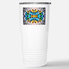 Glowing Glass Beaded De Stainless Steel Travel Mug