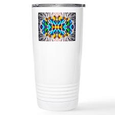 Glowing Glass Beaded De Travel Mug