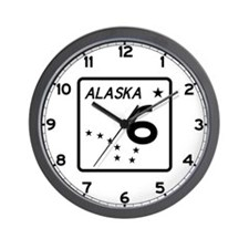 Route 6, Alaska Wall Clock