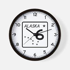 Route 6, Alaska Wall Clock