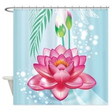 Beautiful Lotus Flower Shower Curtain