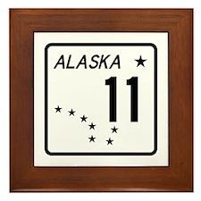 Route 11, Alaska Framed Tile