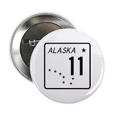 """Route 11, Alaska 2.25"""" Button"""
