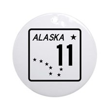 Route 11, Alaska Ornament (Round)
