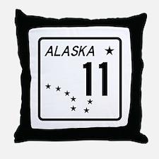 Route 11, Alaska Throw Pillow