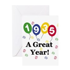 1935 A Great Year Greeting Card
