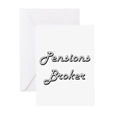 Pensions Broker Classic Job Design Greeting Cards