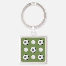 Sporting Confidence Square Keychain
