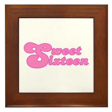 Sweet Sixteen (Retro) Framed Tile