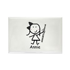 Bassoon - Annie Rectangle Magnet