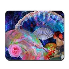 Fans and Roses Mousepad