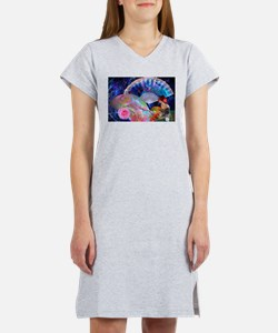 Fans and Roses Women's Nightshirt