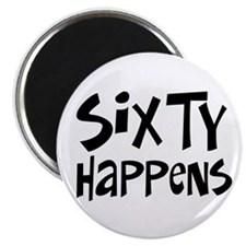 """60th birthday happens 2.25"""" Magnet (10 pack)"""