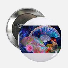 "Fans and Roses 2.25"" Button"