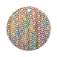 Cute Psychedelic Round Ornament