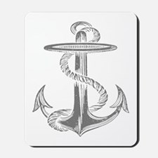 awesome vintage anchor Mousepad