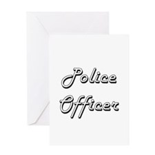 Police Officer Classic Job Design Greeting Cards