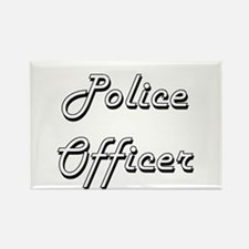 Police Officer Classic Job Design Magnets