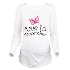Due in December Mate Long Sleeve Maternity T-Shirt