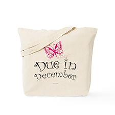 Due in December Maternity Tote Bag