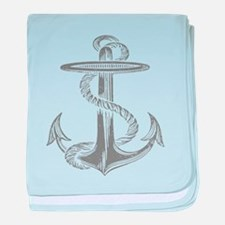 awesome vintage anchor baby blanket