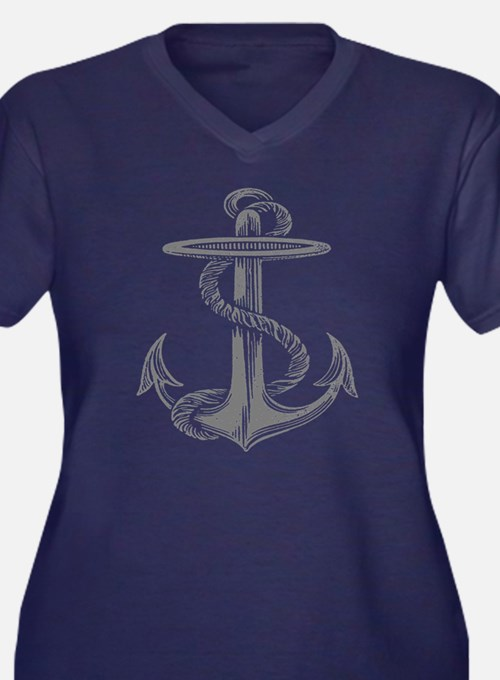 awesome vintage anchor Plus Size T-Shirt