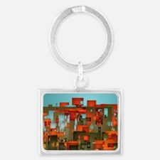 Red City2 Landscape Keychain