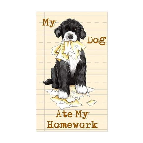 PWD Ate Homework Rectangle Sticker