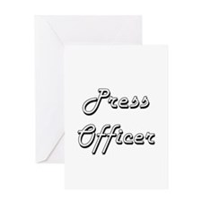 Press Officer Classic Job Design Greeting Cards