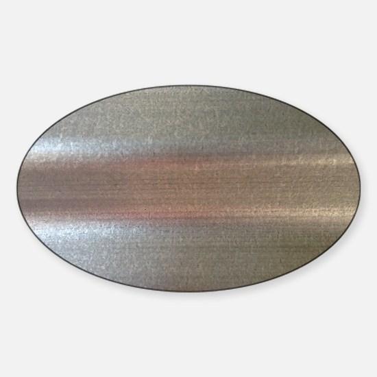 Corrugated Sheet Metal Sticker (Oval)