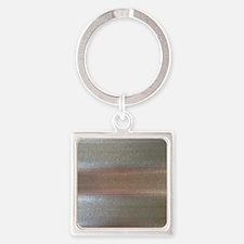 Corrugated Sheet Metal Square Keychain