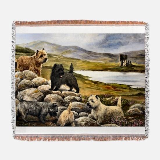 Cairn Terrier Woven Blanket
