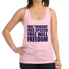 Thought, Speech,Will,Freedom Racerback Tank Top