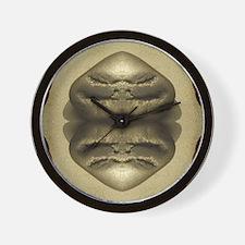 Gold Rocks Drama Wall Clock