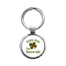 St. Patrick's Day - Kiss Me I'm Bro Round Keychain