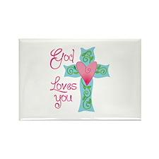 GOD LOVES YOU Magnets