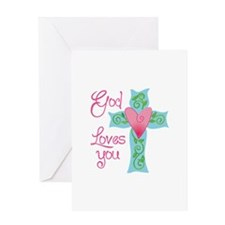 GOD LOVES YOU Greeting Cards