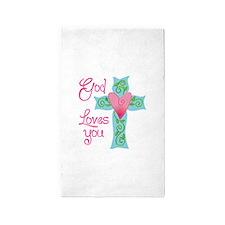GOD LOVES YOU Area Rug