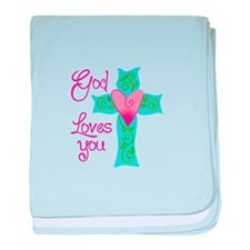 GOD LOVES YOU baby blanket