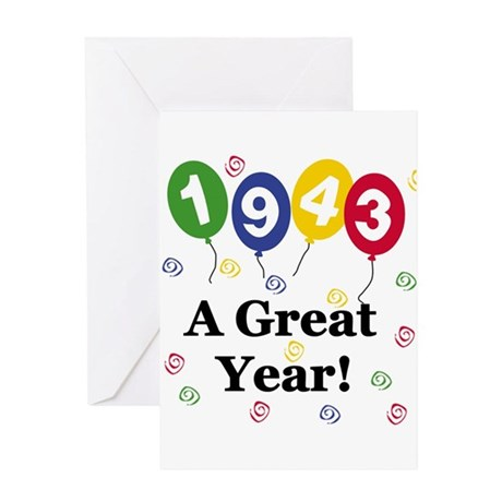 1943 A Great Year Greeting Card