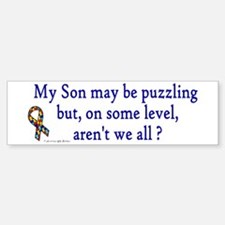 Puzzling (Son) Bumper Car Car Sticker
