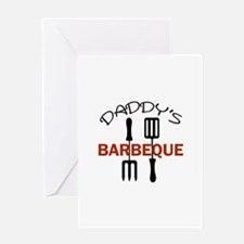 DADDYS BARBEQUE Greeting Cards